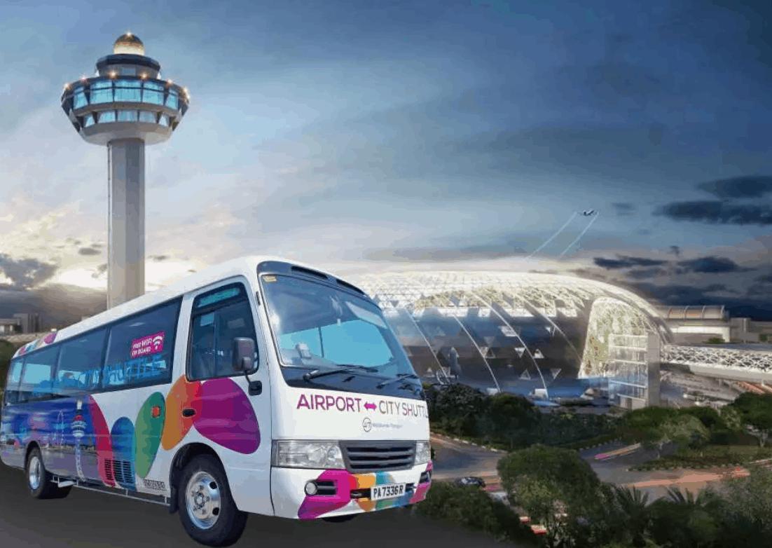 新加坡機場到市區:共乘巴士