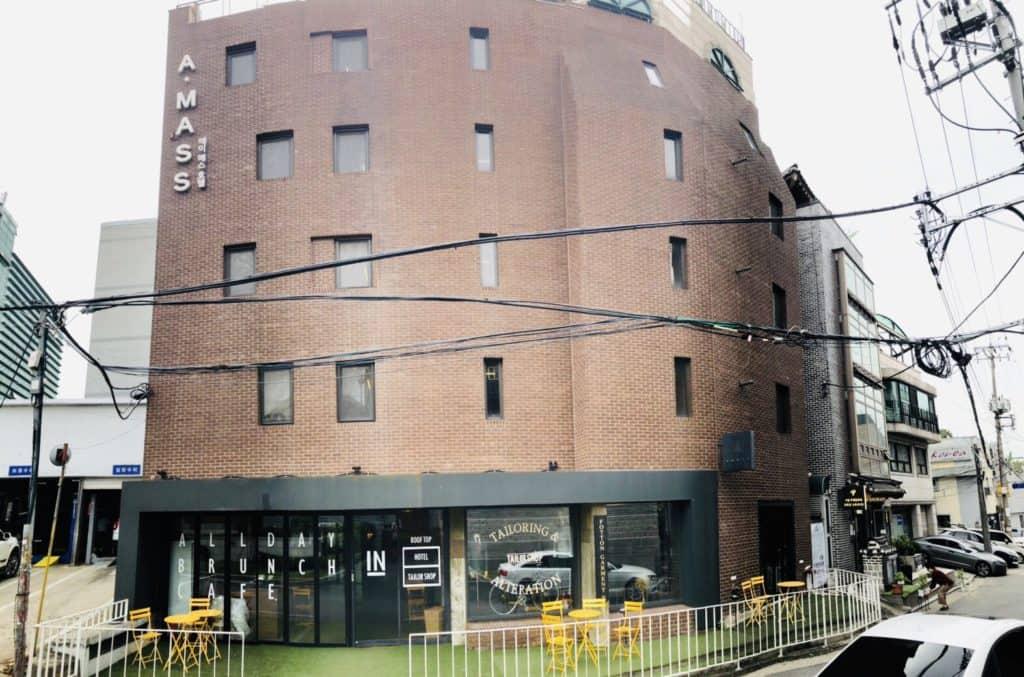 首爾|仁寺洞AMASS飯店AMASS Hotel Insadong,散步即達益善洞韓屋村-飯店外觀