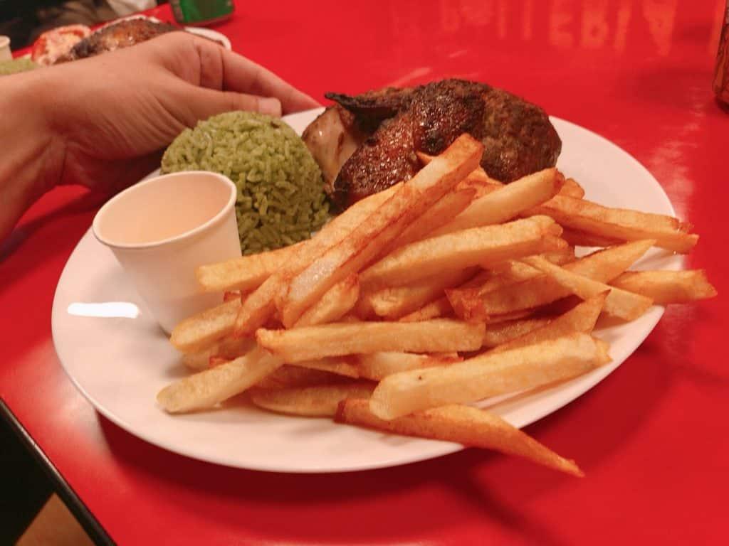 台北烤雞店-秘魯烤雞2號餐 側面圖