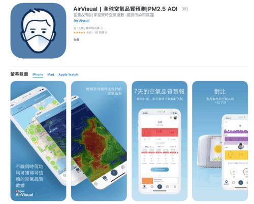韓國apps AirVisual -韓國旅遊空氣品質及天氣APP推薦
