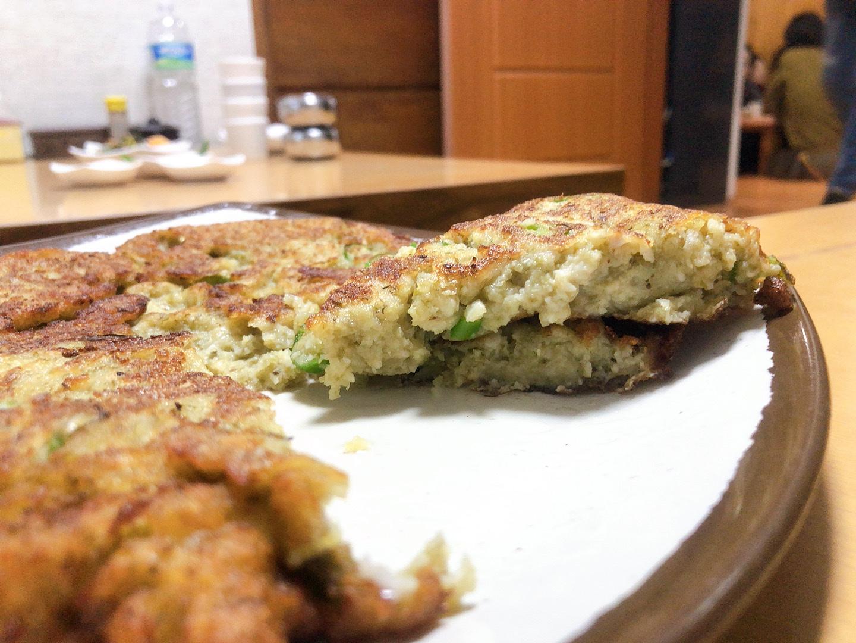 濟州島美食-宇進解酒湯-綠豆煎餅餡料