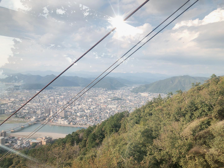 岐阜城 金華山纜車 纜車風景照