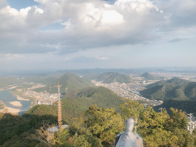 岐阜城 頂樓 山景