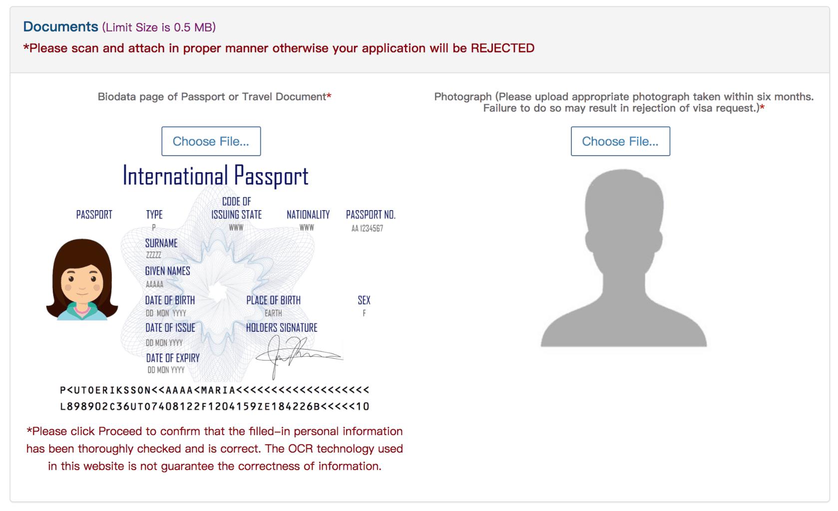 泰國觀光簽證辦理-護照及個人照上傳