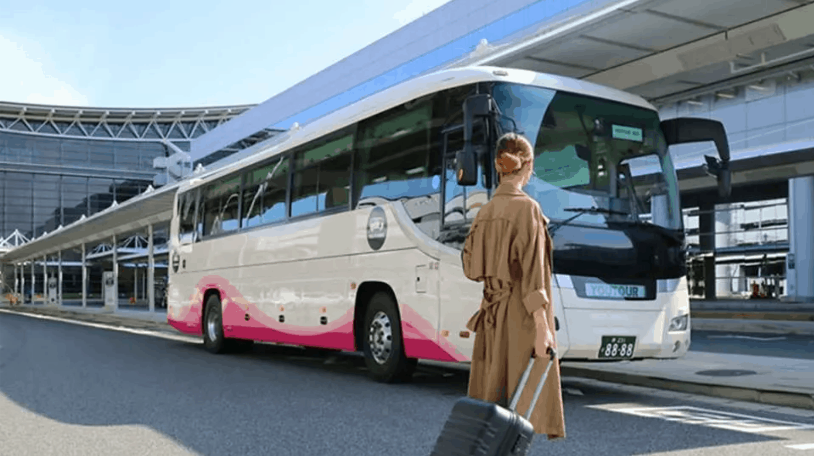 關西機場到大阪:YOUTOURBUS-關西機場民營巴士-道頓堀